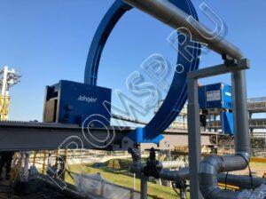 Экстрактор трубных пучков Idrojet S.R.L. Для пучков с приварными камерами, диаметр арки 3,2 метра, пучки весом до 100 тонн